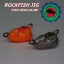 Головка Rockfish Jig Bull's Head 3g/OR/GL