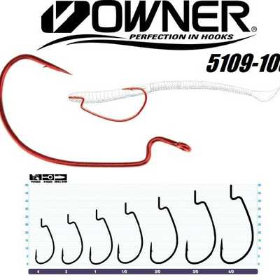 Крючок Офсетный Owner J-Light Hook 5109–103/#1. Owner J-Light Hook 5109–103/#1