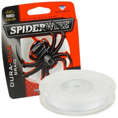 Плетеный шнур SpiderWire Dura Silk 0.10mm/137m/YE. SpiderWire Dura Silk 0.10mm/137m/YE