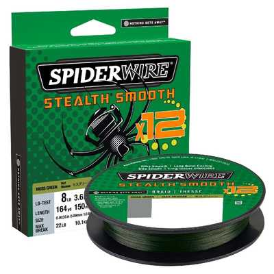 Шнур Spider Wire Stealth Smooth 12 Braid 150м 0.07мм GR. Stealth Smooth 12 Braid 150м 0.07мм GR