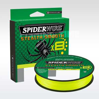 Шнур Spider Wire Stealth Smooth 8 Braid 150м 0.06мм CH. Stealth Smooth 8 Braid 150м 0.06мм CH