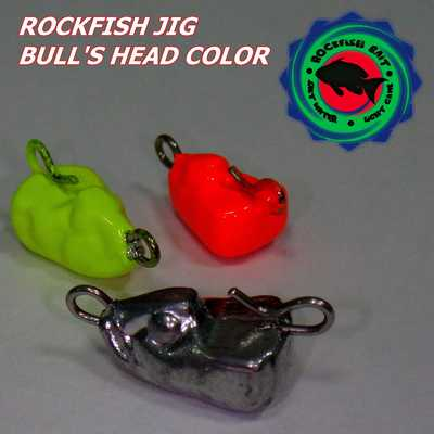 Головка Rockfish Jig Bull's Head 3g/OR. Rockfish Jig Bull's Head 3g/OR