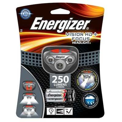 Фонарь налобный Energizer Vision HD+Focus Headlight 250. Energizer Vision HD+Focus Headlight 250