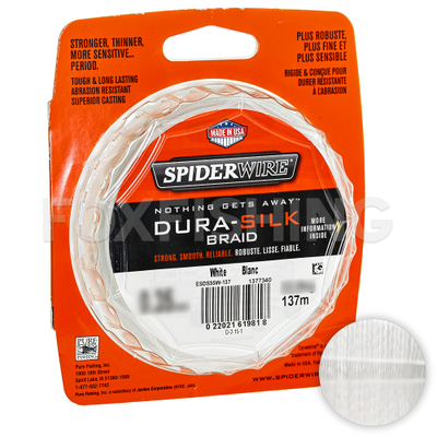 Плетеный шнур SpiderWire Dura Silk 0.08mm/270m/YE. SpiderWire Dura Silk 0.08mm/270m/YE